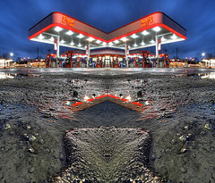 Reflect 12.31.2006 (Notley) Tags: morning reflection water night reflections dark lights dof columbia symmetry gas gasstation depthoffield reflect missouri reflexion nocturne reflexin lowangle gasolinera columbiamissouri bocomo 10thavenue odraz distributoredibenzina postodegasolina notley ruralphotography boonecountymissouri eftertanke notleyhawkins missouriphotography stationdegaz httpwwwnotleyhawkinscom notleyhawkinsphotography boonebounty