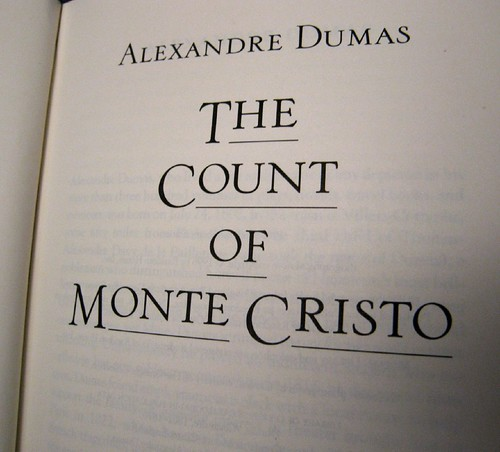 The Count of Monte Cristo by Alexandre Dumas, book cover.