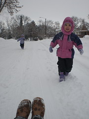 Winter Fun-Sledding