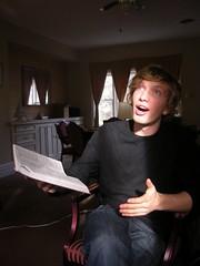 Erik singing the bible