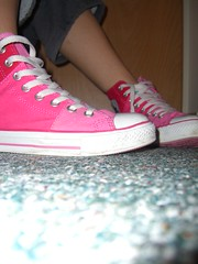 Pink Converses.