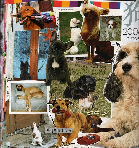 Year of the Dog is over - journal page collage