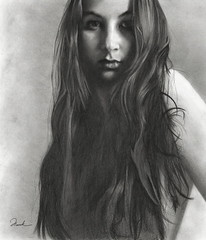 When you can draw really well... (sole) Tags: bw woman art drawing fineart da latina brunette deviantart graphite henrik solea artlibre