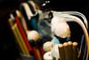 mains d'oeuvres (vinciane verguethen (aka toupie)) Tags: mainsdoeuvres versari batterie baguettes mailloches drums eos 350d canon vinciane verguethen vincianeverguethen saintouen rouge red fermetureéclair zip macro cyrilbilbeau