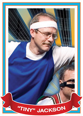 """Tiny"" Jackson (wiseacre photo) Tags: portrait face basketball tradingcard card wiseacre block tall smirk hoops defense headband paularmstrong"