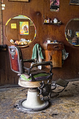 Barber Shop in Taunggyi, Myanmar. (Robin Thom) Tags: signs reflections saveme5 chairs burma myanmar z barbers barbershops taunggyi 1111v11f