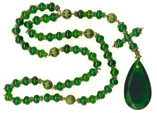 Emerald rosary replica