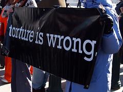 """Torture Is Wrong"" Sign At The International Day To Shut Down Guantanamo Bay, Supreme Court (Washington, DC) (takomabibelot) Tags: sign washingtondc dc protest torture codepink guantanamo unitedforpeaceandjustice amnestyinternational globalexchange january11 supremecourtoftheunitedstates tortureabolitionandsurvivorssupportcoalition dcantiwarnetwork tikkun catholicworker centerforconstitutionalrights networkofspiritualprogressives tassc declarationofpeace warresistersleague witnessagainsttorture tortureiswrong billofrightsdefensecommittee internationalfederationforhumanrights nationalcampaignfornonviolentresistance paxchristiusa rabbisforhumanrights schooloftheamericaswatch internationaldaytoshutdownguantanamo bonnietamresmoore opposetorture"