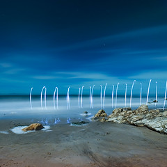 Waiting (Toby Keller / Burnblue) Tags: california longexposure toby lightpainting santabarbara night clouds square landscape keller d70 led top20night hendrys tobykeller instantfave 1118mm thebigrock burnblue aftersato