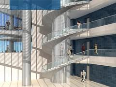 renders interior torre espacio