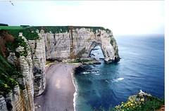 Cliffs at Etretat (Isabella Perry) Tags: sea france cliffs scanned coastline normandie 1994 normandy etretat anawesomeshot flickrelite