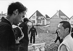 Wong discusses martial art tactics with his apprentice