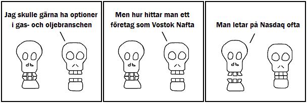 Jag skulle gärna ha optioner i gas och oljebranschen; Men hur hittar man ett företag som Vostok Nafta; Man letar på Nasdaq ofta