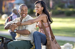 "Columbus Short and Meagan Good in ""Stomp The Yard"""