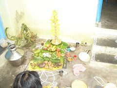 ARRANGEMENTS AND DECORATIONS AND OFFERINGS TO LORD SUN (G. Athimoolam) Tags: decorations ourlords blesings kolangal happypongal paintimngs