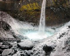 again with the magic: elowah falls (manyfires) Tags: winter panorama ice oregon waterfall nikon 500v20f hiking panoramic falls pacificnorthwest columbiarivergorge elowah