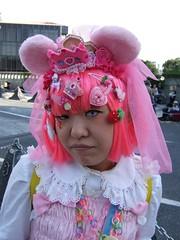 Pink (vyxle) Tags: pink red fruits japan tokyo cosplay lolita harajuku gothiclolita yamamba yamanba gololi