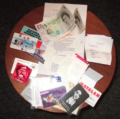 16 January 2007: The Contents of My Wallet.