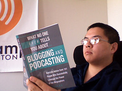 Picture of book, What No One Tells you about Blogging and Podcasting