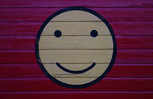 happy face on shed