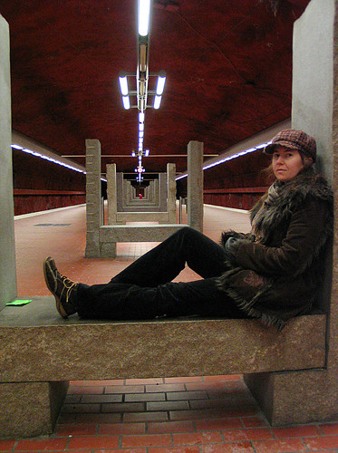 EFIT 06:14 - Alone at the platform at Skarpnäck subway station