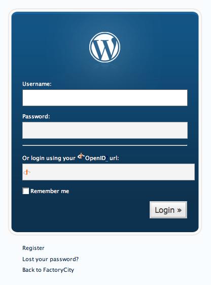 WordPress 2.1 + OpenID