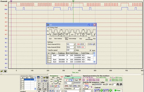 I2C MXC62020J Logic Analysis