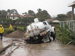 Pumper truck in Paradise Cove