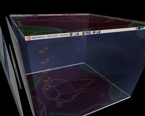 vue en 3d avec l'épaisseur des fenêtres