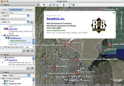 Google Earth Ad RustyBrick