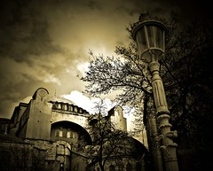 mystical (Atilla1000) Tags: tree sepia clouds photoshop turkey bravo searchthebest istanbul explore mystical hagiasophia sultanahmet ayasofya supershot magicdonkey impressedbeauty
