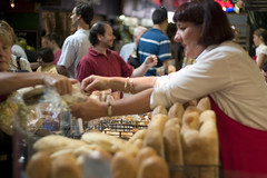 A transaction over bread