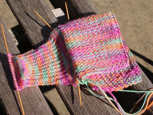 Rock n Weave sock in progress