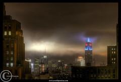 Dark (Arnold Pouteau's) Tags: nyc newyorkcity longexposure night manhattan midtown empirestatebuilding outsidethewindow hdr