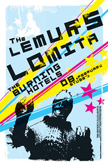 StubbsPoster-Lomita+Lemurs (City On Fire) Tags: show music art rock austin poster design graphic indie lemurs stubbs flier lomita