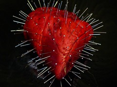 Pin Cushion Heart (Evilangelica) Tags: red happy pain hurt blood day heart you anger have hate valentines had envy could jealousy utatafeature colorphotoaward
