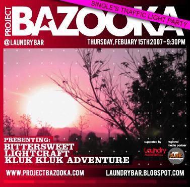 bazooka february gig flyer