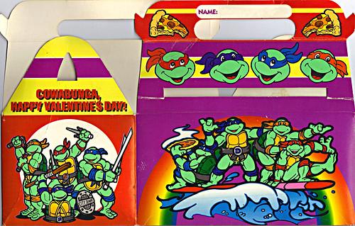 """MELLO SMELLO :: """"TEENAGE MUTANT NINJA TURTLES"""" Valentine Kit .. box ii (( 1994 ))"""