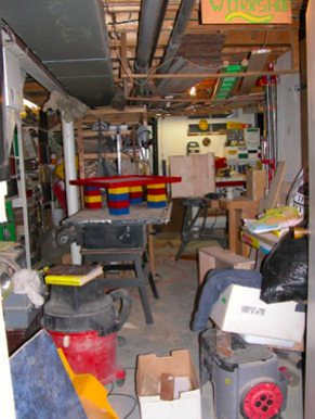 frank pellow's basement woodworking shop