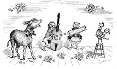 singing_donkey_1881 (Al Q) Tags: dog cat song band donkey accordion sing rooster viola combo quartet anthropomorphic