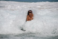 Hit by a wave! (Anouka) Tags: beach water hawaii secretbeach wave kauai