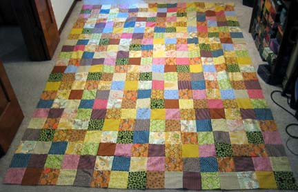 The finished Quilt Top