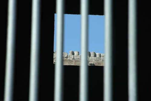 Colosseum behind bars