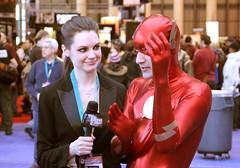 Flash getting interviewed