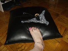HPIM1227 (Morningstar1369) Tags: red white black feet leather rose panties fetish foot gold dc toes rings collar