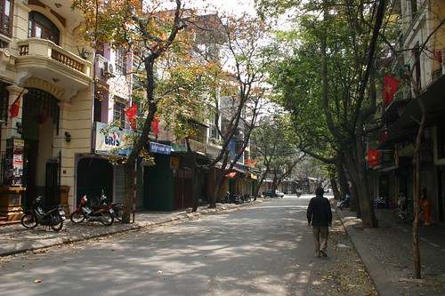 Empty streets in Hanoi only occur once a year - during the Tet New Year