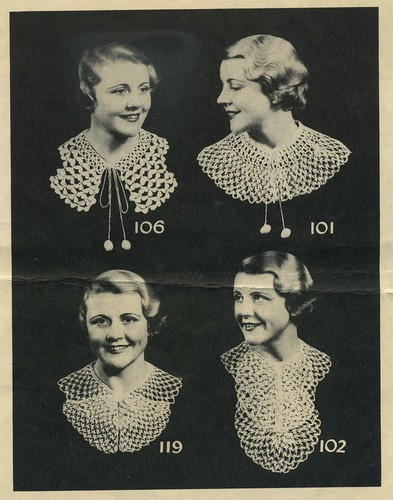 polar yarns crocheted collars 1930s
