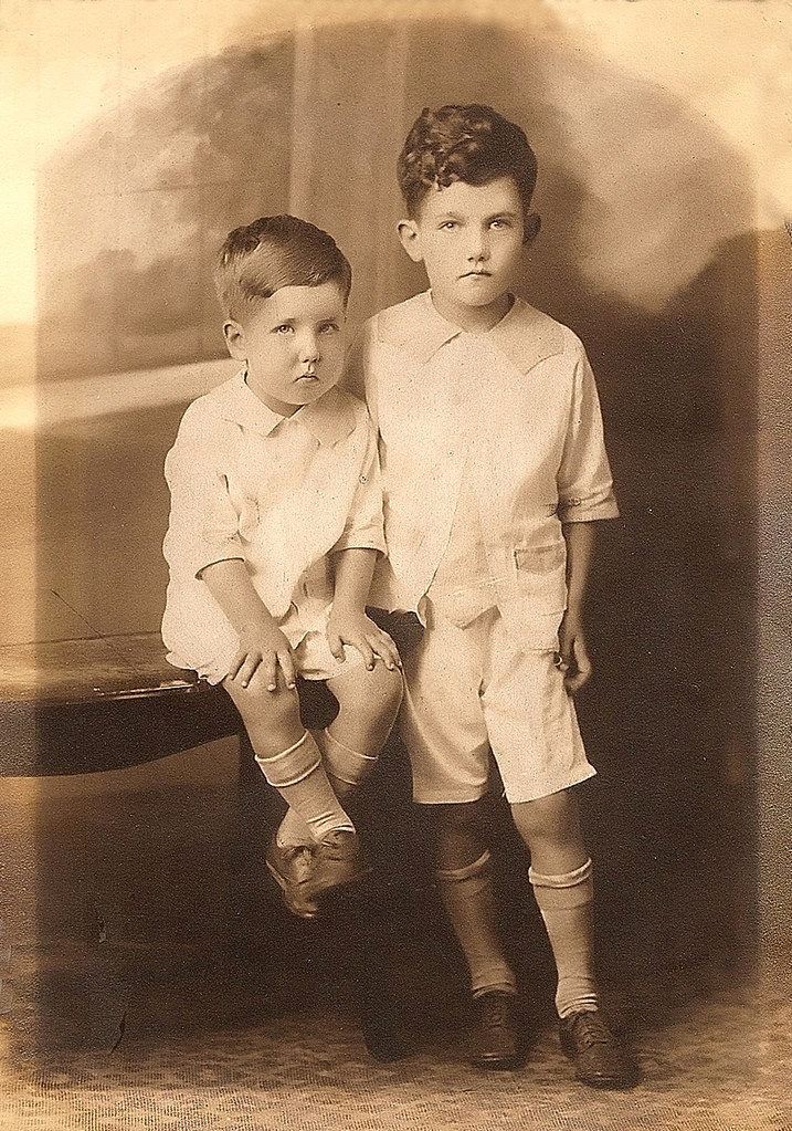 Brothers Thomas and James Beveridge, circa 1928