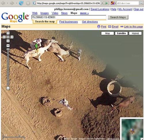 Kamel bei Google Earth