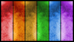 Textured Rainbow (Bob.Fornal) Tags: blue red orange color green texture yellow rainbow candle purple wax 10faves anawesomeshot